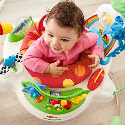 Jumperoo Baby Jump & Learn Stationary Jumper Baby Bouncing Swing image 4