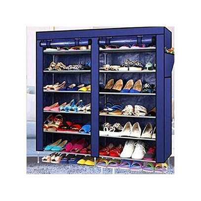 Generic Portable Shoe Rack- Nevy Blue 36 Pairs image 1