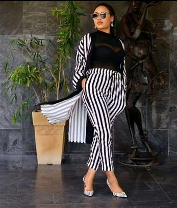 Two Piece Set | Stripped Pants image 1
