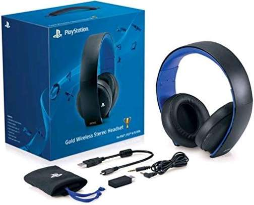 Playstation Gold Wireless Stereo Headset image 1