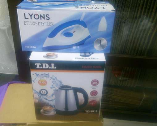TDL electric kettle +free iron box image 1