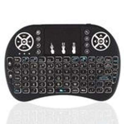 Wireless Mini Keyboard with Touch Pad Mouse and LED Light image 1