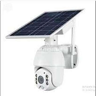 4g solar ptz outdoor cctv camera image 1