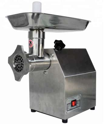 TK-12 electric meat mincer grinder for  home use and commercial applications. image 1