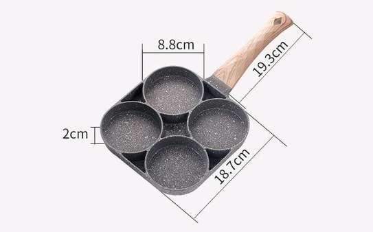 *High Quality heavy granite non~stick 4slot pancake/egg  pan image 1