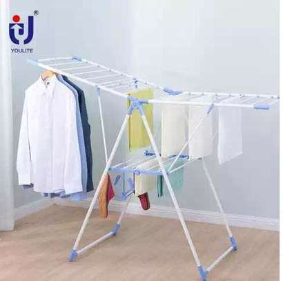 Outdoor clothes hanging rack image 1