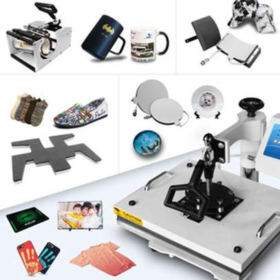 Heat Press Sublimation Machine(Black & white). image 1