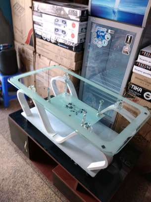 Mahogany stands glass table