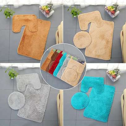 3 Pieces Bathroom fluffy mats0 image 1