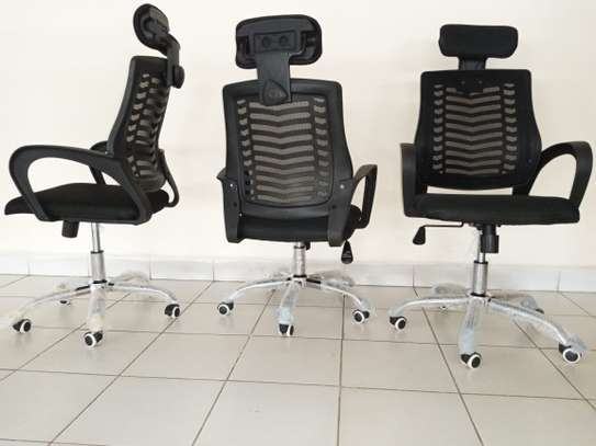 Mesh Secretarial Seat with Head rest image 2
