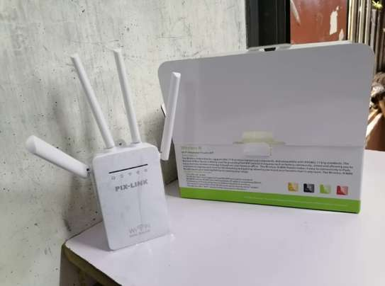 Pix Link 4 Antennas Wifi Repeater Extender Booster image 1