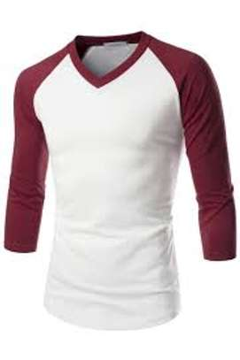 V Neck Baseball Tshirt