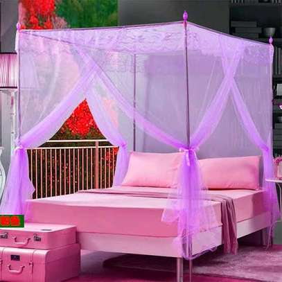 Quality Mosquito Net 4 Stand with Rails