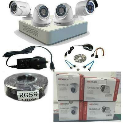 4 CCTV CAMERA FULL PACKAGE 1.3 MP(720p) With Night Vision image 1