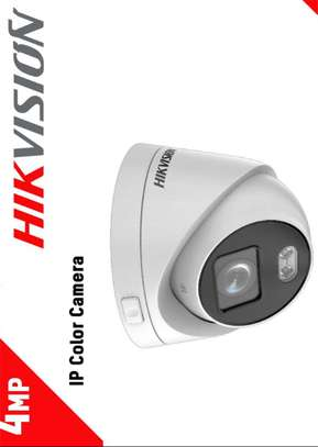 HIKVISION  4 MP ColorVu Fixed Dome  Network  IP CCTV Camera image 1