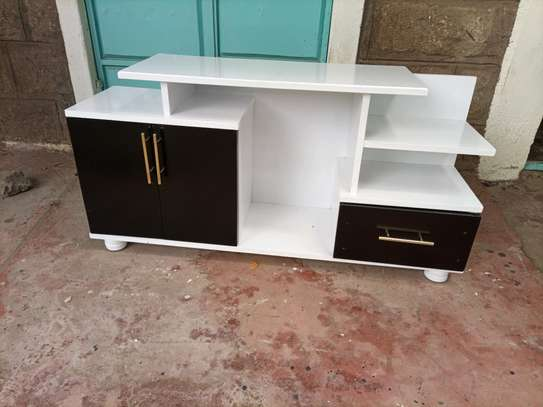 tv stand black and white 2020 image 1