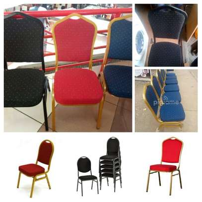 Stackable Steel Office Chairs image 3
