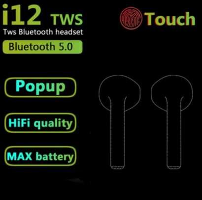 i12 TWS Airpods wireless Bluetooth Earphone Bluetooth 5.0 Earbuds sport Headset image 8