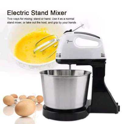Speed Electric Hand Mixer With Bowl For Eggs & Soft Dough image 1
