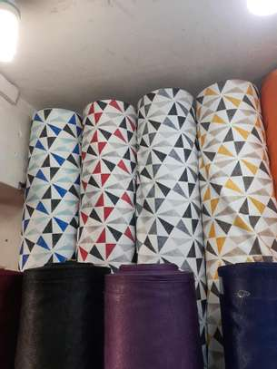 cheap European patterned fabric curtain and sheers image 9