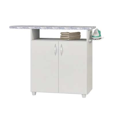 Ironing Board Cabinet ( Multi-Purpose ) 2 PT White - Notavel