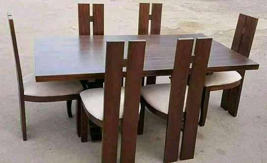 Beautiful Modern Quality Mahogany 6 Seater Dining Table image 3