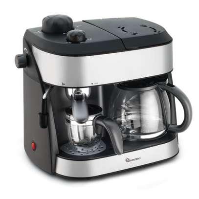 CAPPUCCINO MAKER BLACK + FREE DORMANS COFFEE 100G- RM/273 image 1