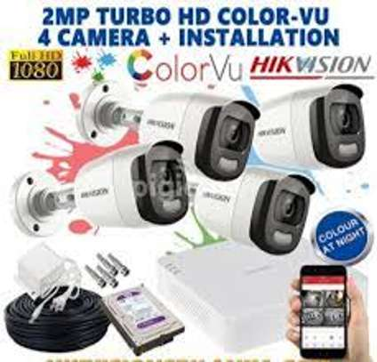 4 CCTV Camera ColourVu Kit 2MP-Metallic(Coloured At Night) image 3