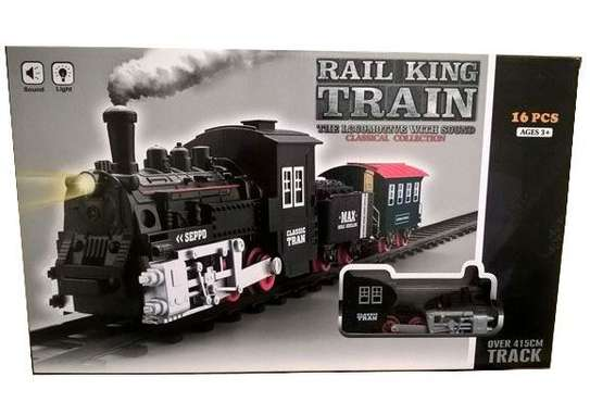 Classical Railway King  Battery Operated Locomotive Passenger Train Set Toy image 2