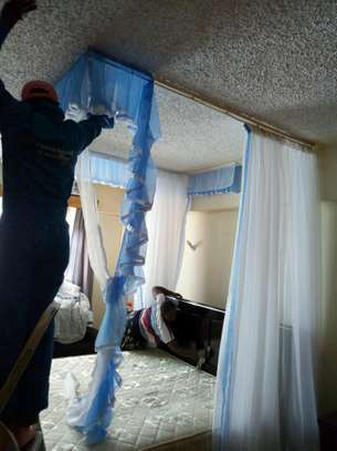 Rail Shears Mosquito Nets Sliding Like Curtains Fixed On The Ceiling image 7