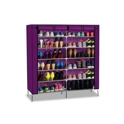 Portable Shoe Rack - 36 Pairs - Purple image 1