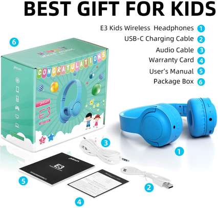 Picun E3 Bluetooth Headphone for Kids (Blue) image 6