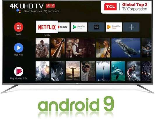 TCL 65 INCH 4K QUHD ANDROID SMART TV WITH AI  (2019 MODEL) image 1