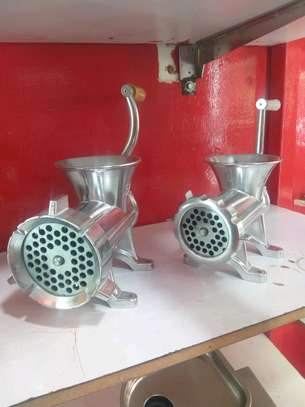Manual Meat mincer J22 22inch silver image 2