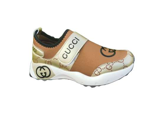 Gold -White-Gucci women Sneakers image 1