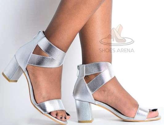 Open chunky heels image 2