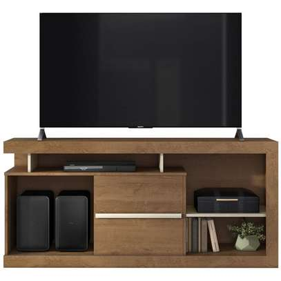 TV Stand Rack ( Belaflex Tv Stand Monaco Nature ) - Up to 65 Inch TV Space