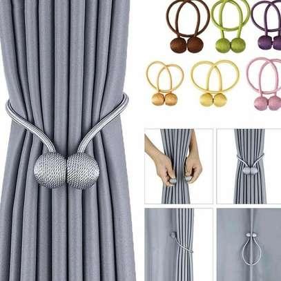 Curtain holders/ tiebacks grey image 1