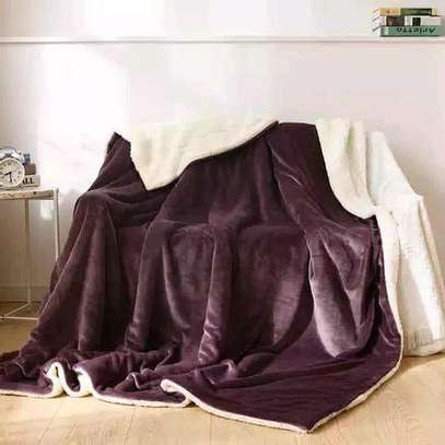 5 by 6 Flannel Throw Sherpa Super warm Fleece blanket image 11