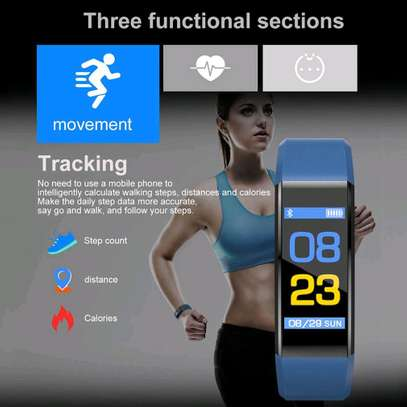 115 PLUS Smart Watch Heart Rate Smartwatch Sport Watch for ios android image 4