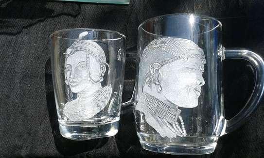 Hand engraved glasses image 4