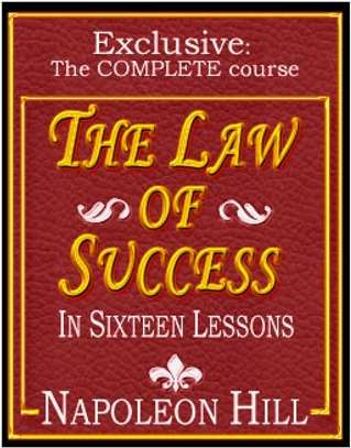 Law Of Success In 16 Lessons By Napoleon Hill