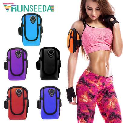 Running Sport Bag Fitness Gym Jogging Riding Cycling Phone Armband image 4