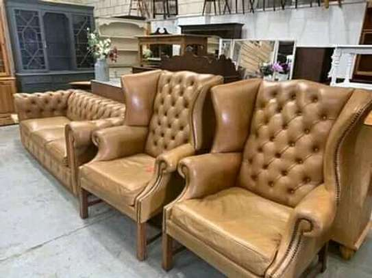Leather chesterfield sofas for offices, hotel lounges and homes image 5