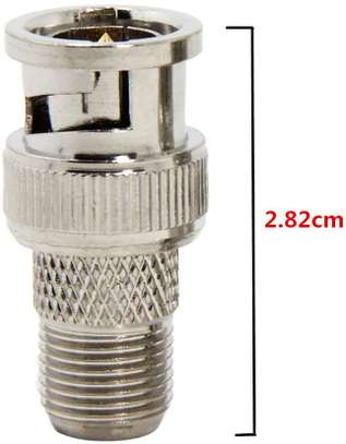 BNC Male Plug To F Female Jack Coax Connector Adapter For CCTV image 1
