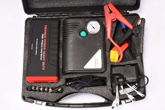 High Power Auto Emergency Vehicle Jump Starter + Tyre Pressure Compressor Kit