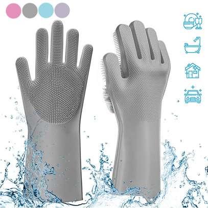 Multi-function Silicone Washing Gloves image 3