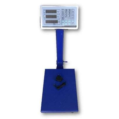 Generic 300kg - Digital Weigh Scale Price Weight Computing Electronic Industrial Platform Weighing Scale -Grey Silver image 1