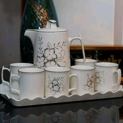 Fancy classy Ceramic Tea Pot, tray and cup set image 4