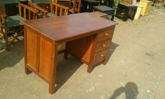 Office desk without chair.